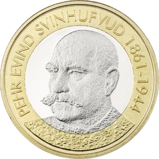 Финляндия 5 евро 2016 г. Президент Пер Эвинд Свинхувуд