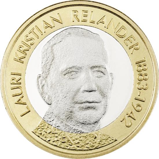 Финляндия 5 евро 2016 г. Президет Лаури Кристиан Реландер