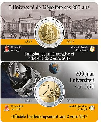 Бельгия 2 евро 2017 г. 200 лет основания Льежского университета