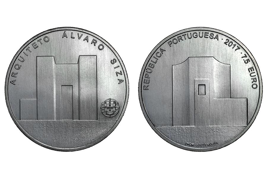 Португалия 7,5 евро 2017 Архитектор Альваро Сиза