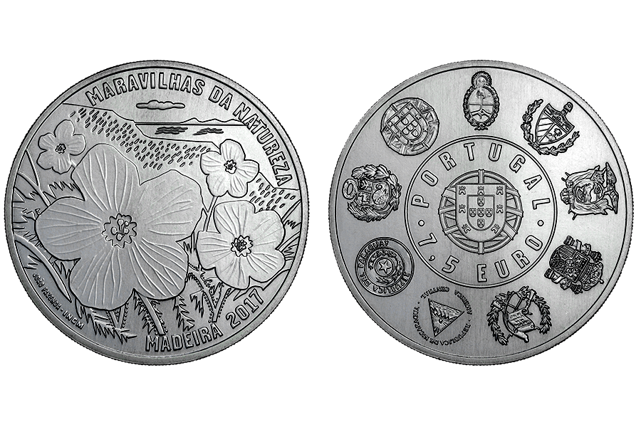 Португалия 7,5 евро 2017 Природа Мадейры