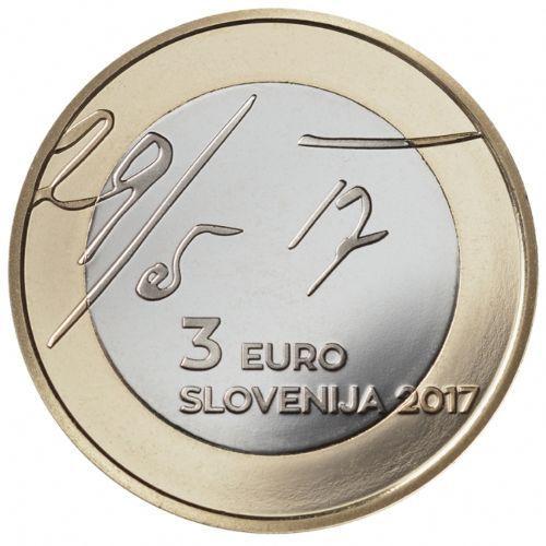 Словения 3 евро 2017 г. 100 лет майской декларации