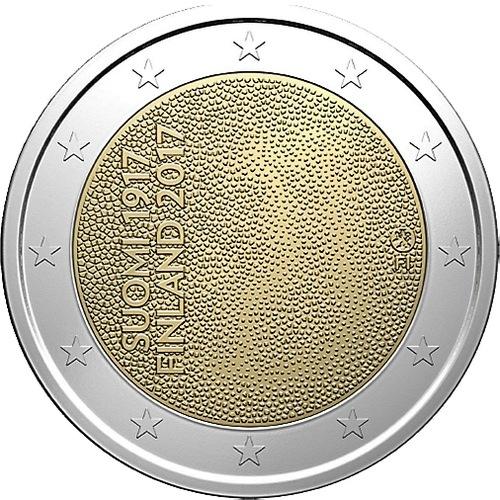 Финляндия 2 евро 2017 г. 100-летие независимости Финляндии