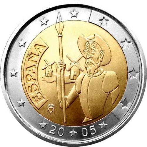 Испания 2 евро 2005 г.  Дон Кихот