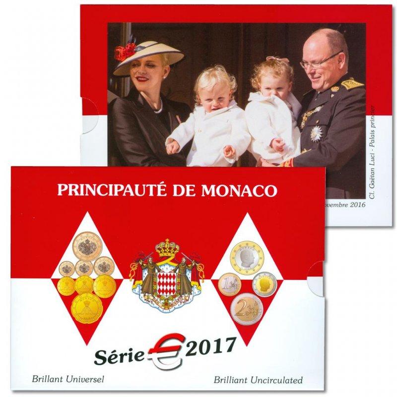 Монако набор евро монет 2017 г.
