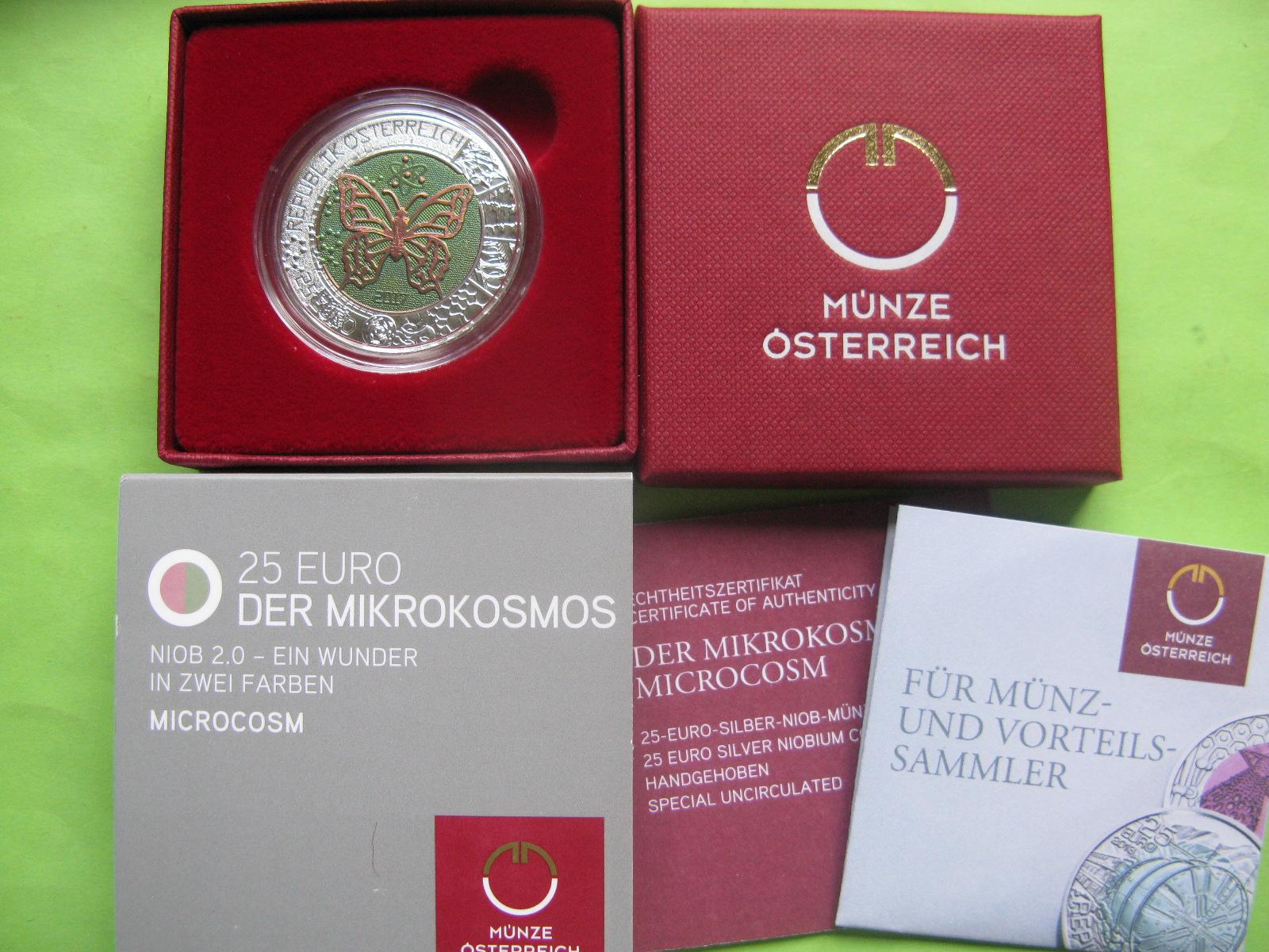 Австрия 25 евро 2017 г. Микрокосмос