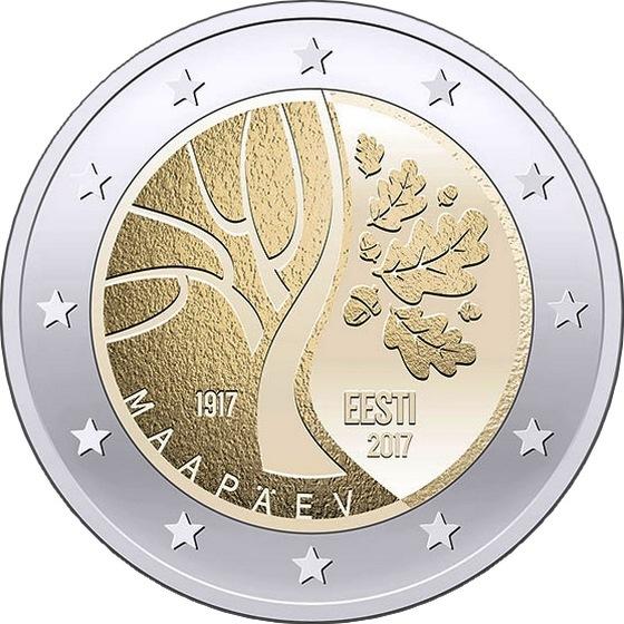 Эстония 2 евро 2017 г. Дорога Эстонии к независимости