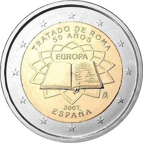 Испания 2 евро 2007 г. Римский договор