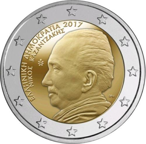 Греция 2 евро 2017 г. 60 лет со дня смерти  Никоса Казандзакиса
