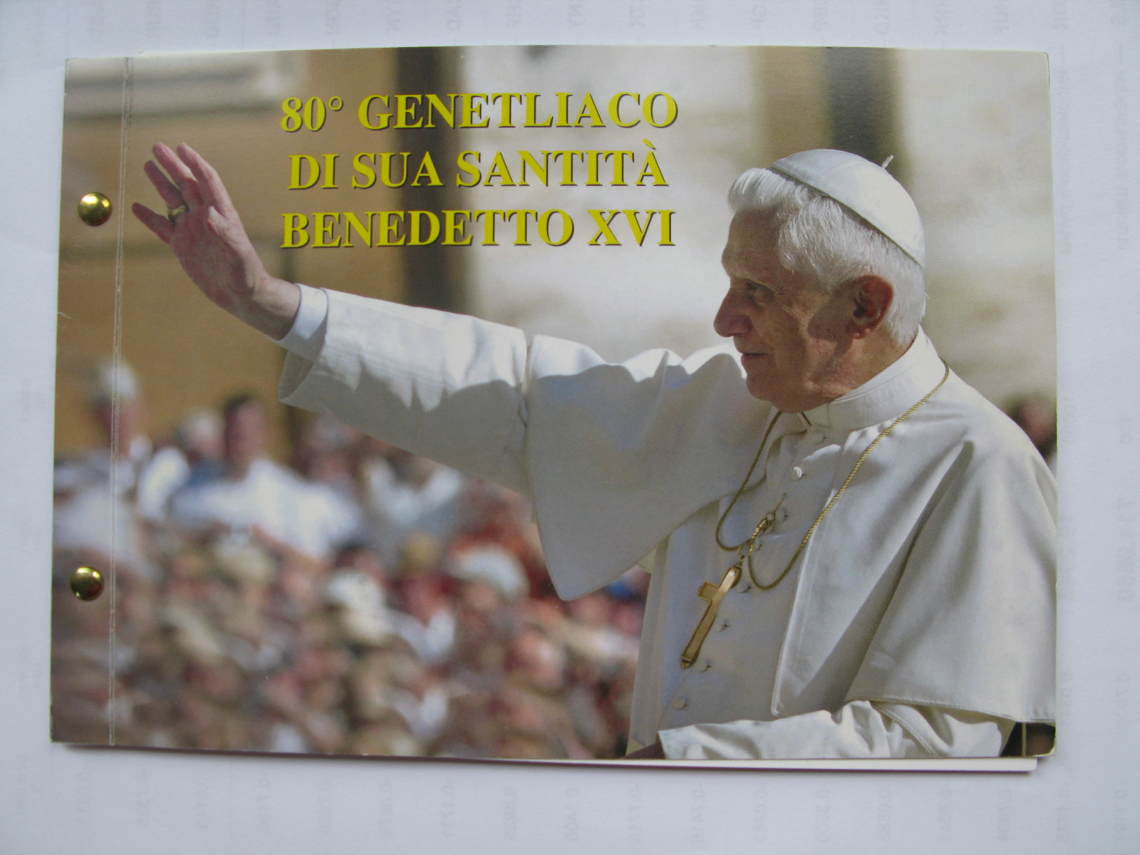 Ватикан 2 евро 2007 г.  80 лет Бенедикту XVI