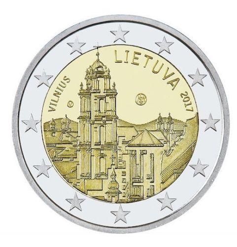 Литва 2 евро 2017 г. Вильнюс - столица культуры и искусства.