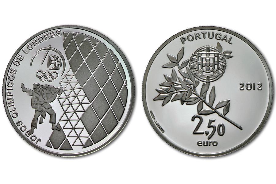 Португалия 2,5 евро 2012 г. Олимпийские игры 2012 в Лондоне