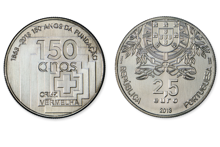 Португалия 2,5 евро 2013 г.  150 лет Красному Кресту