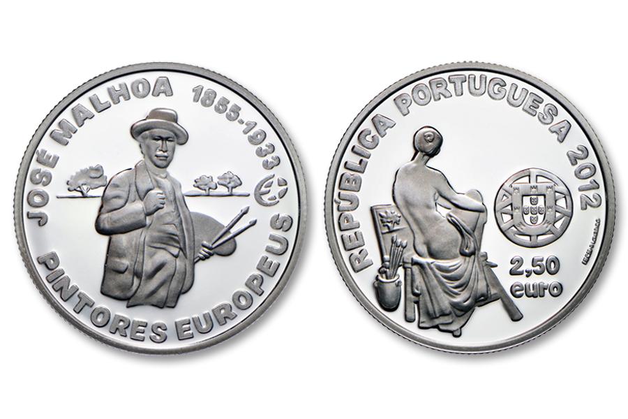 Португалия 2,5 евро 2012 г. Художник Хосе Мальхоа