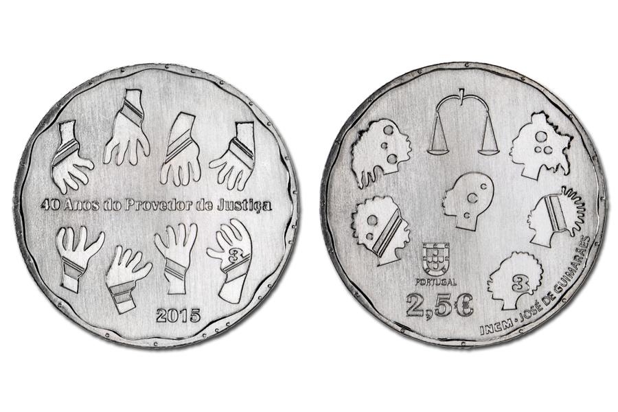 Португалия 2,5 евро 2015 г. Праведор юстиции