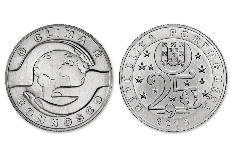 Португалия 2,5 евро 2015 г. Изменение климата