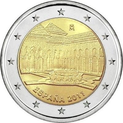 Испания 2 евро 2011 г.  Львиный дворик в Альгамбре