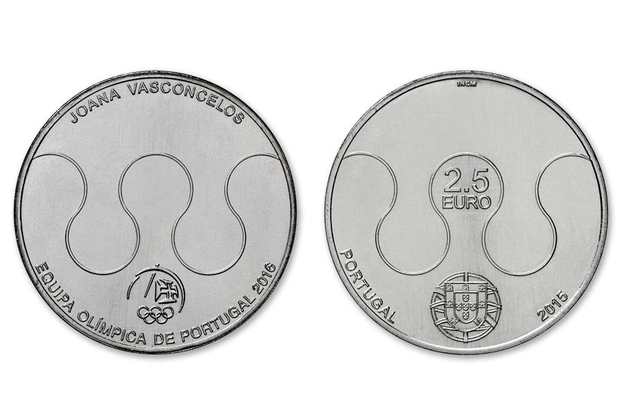 Португалия 2,5 евро 2015 г. Олимпиада в РИО