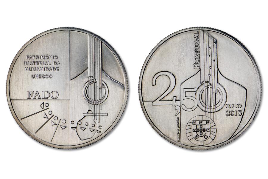 Португалия 2,5 евро 2015 г. Фаду