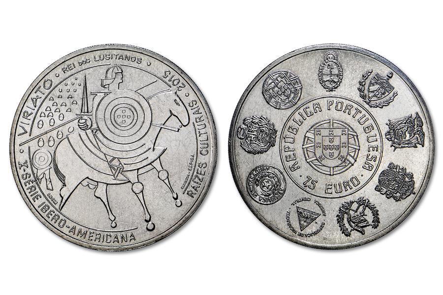 Португалия 7,5 евро 2015 г. Вириато
