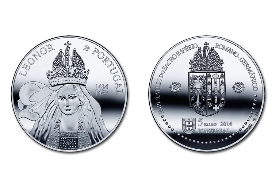 Португалия 5 евро 2014 г. Королева Элеонора