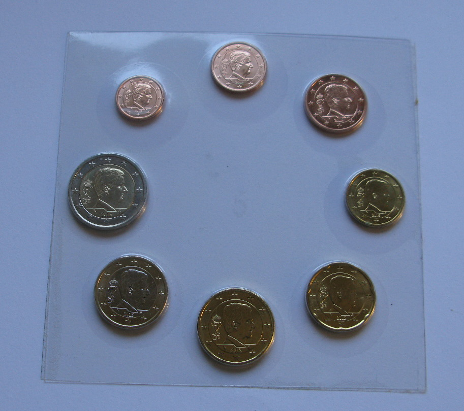 Бельгия набор евро монет 2015 г. UNC