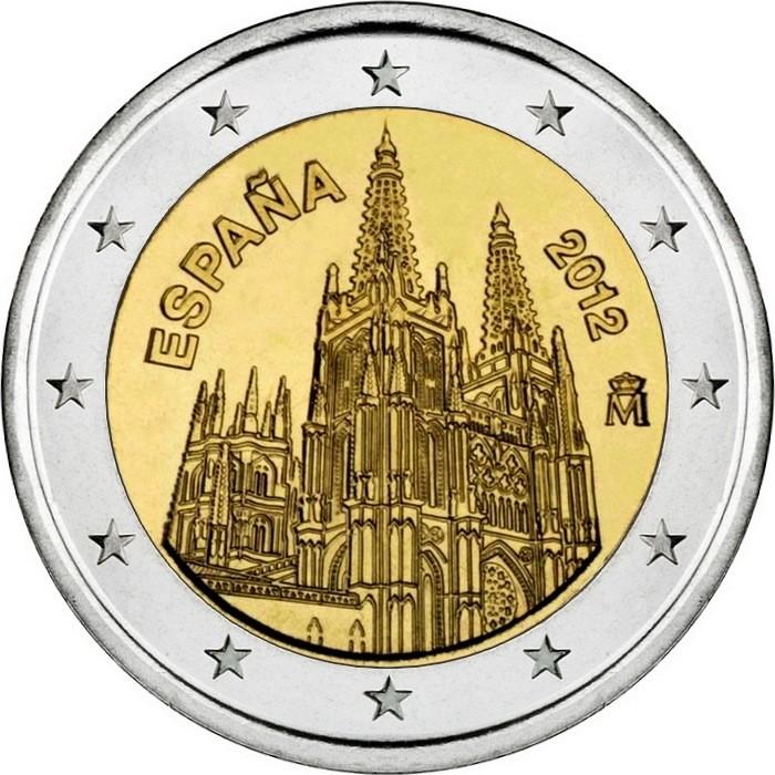 Испания 2 евро 2012 г.   Бургос