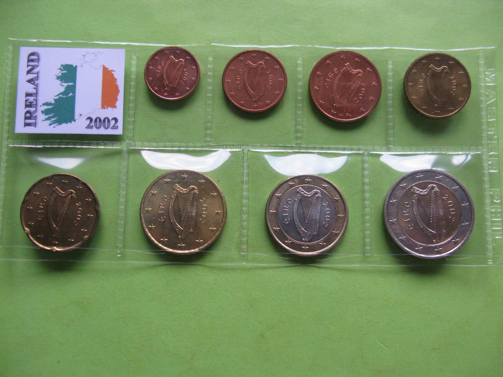 Ирландия набор евро 2002 г. UNC