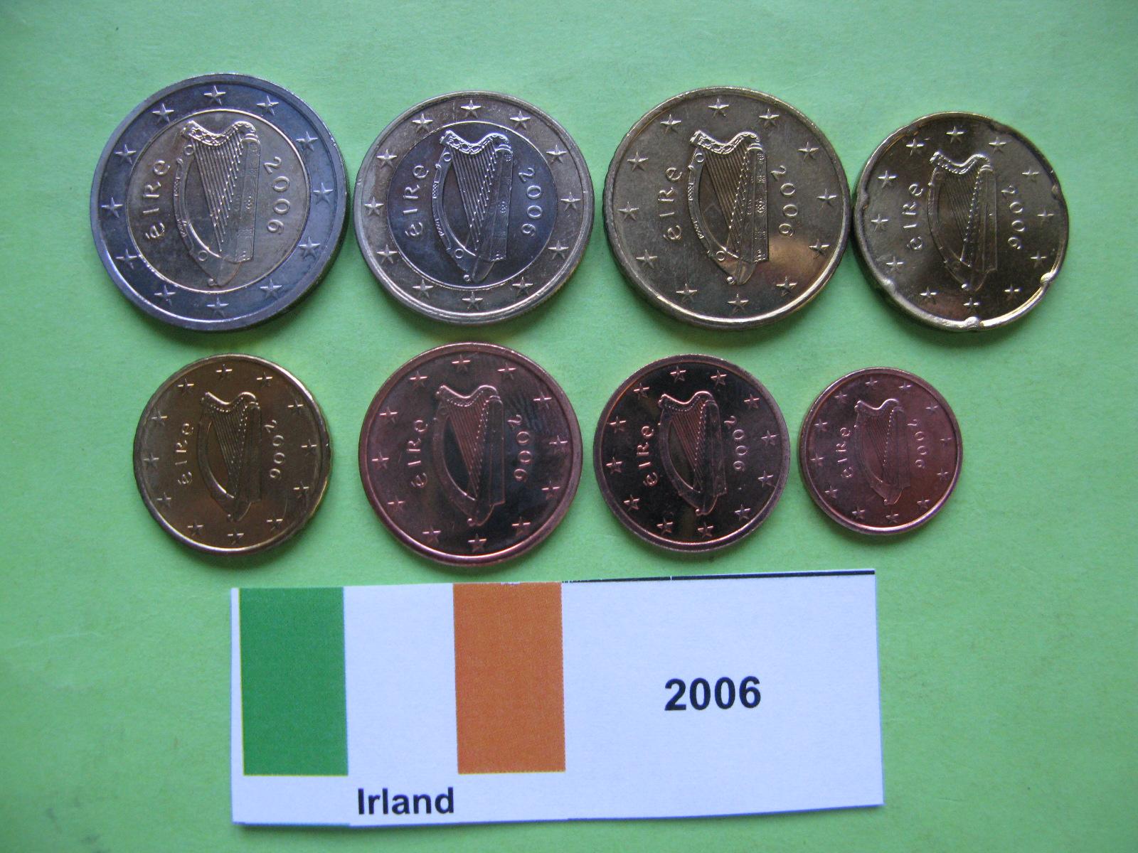 Ирландия набор евро  2006 г. UNC