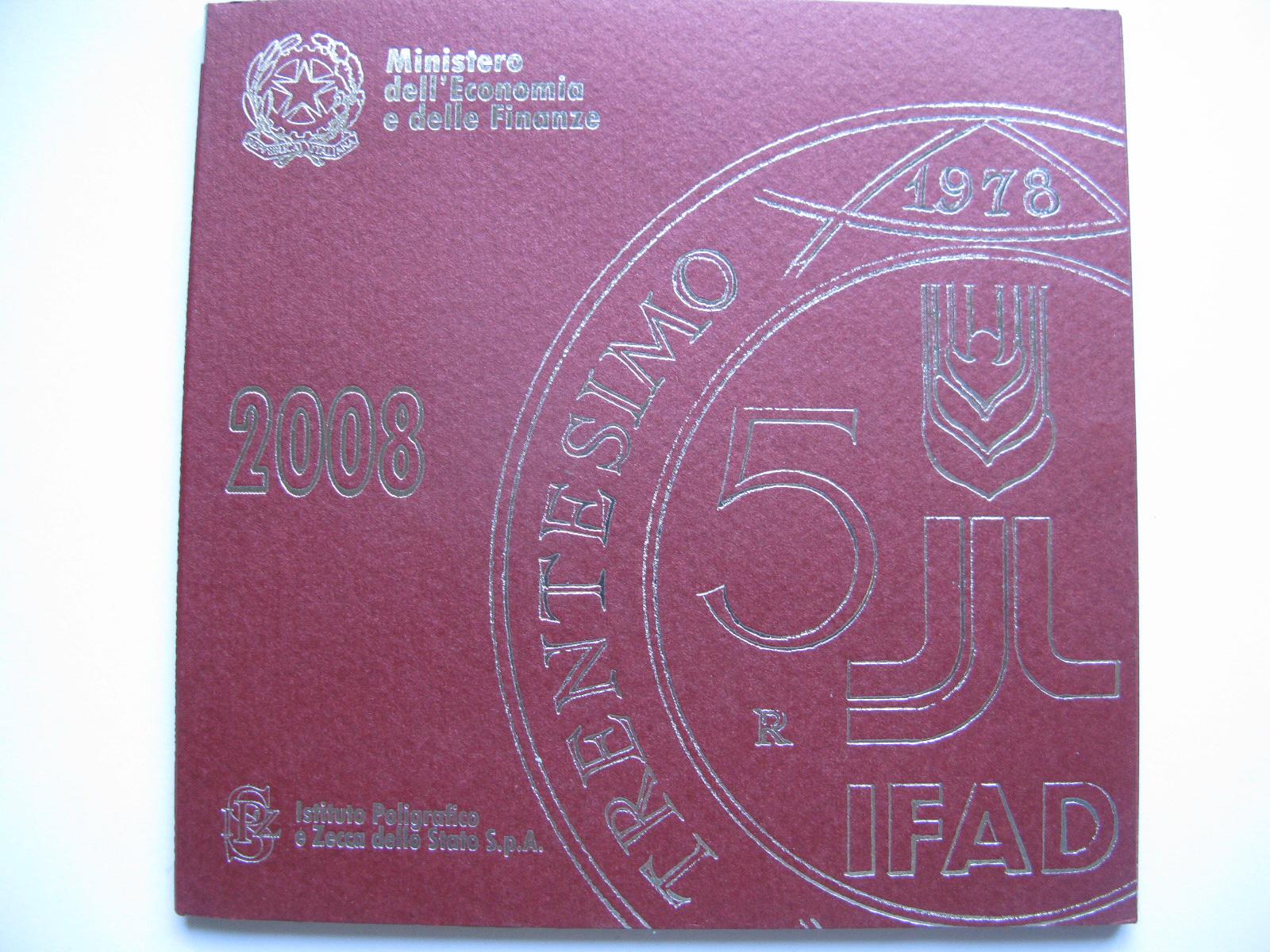 Италия официальный набор евро монет  2008 г.