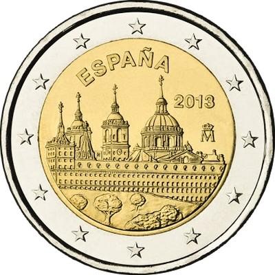Испания 2 евро 2013 г. Эскориал
