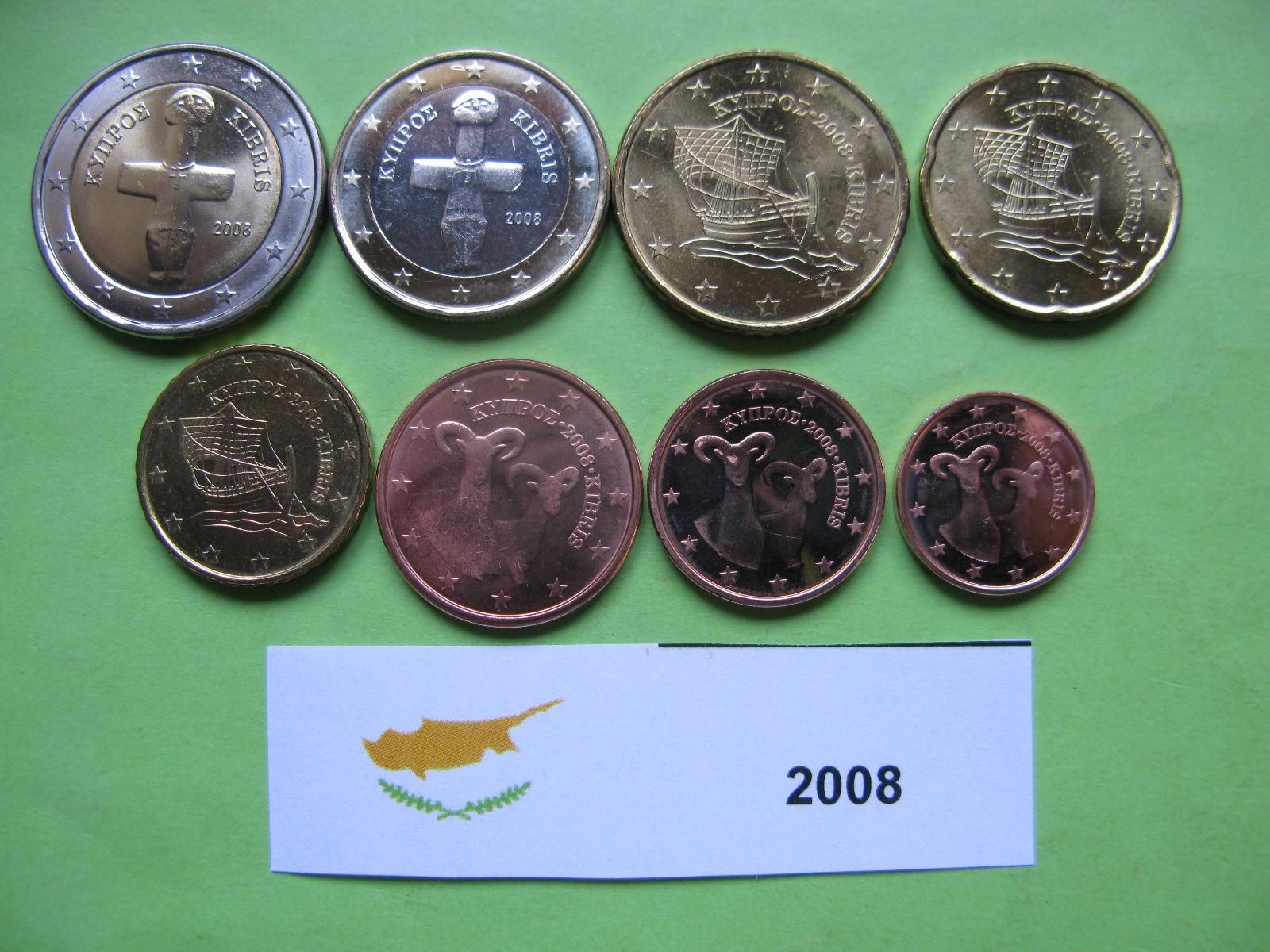 Кипр набор  монет 2008 г. UNC