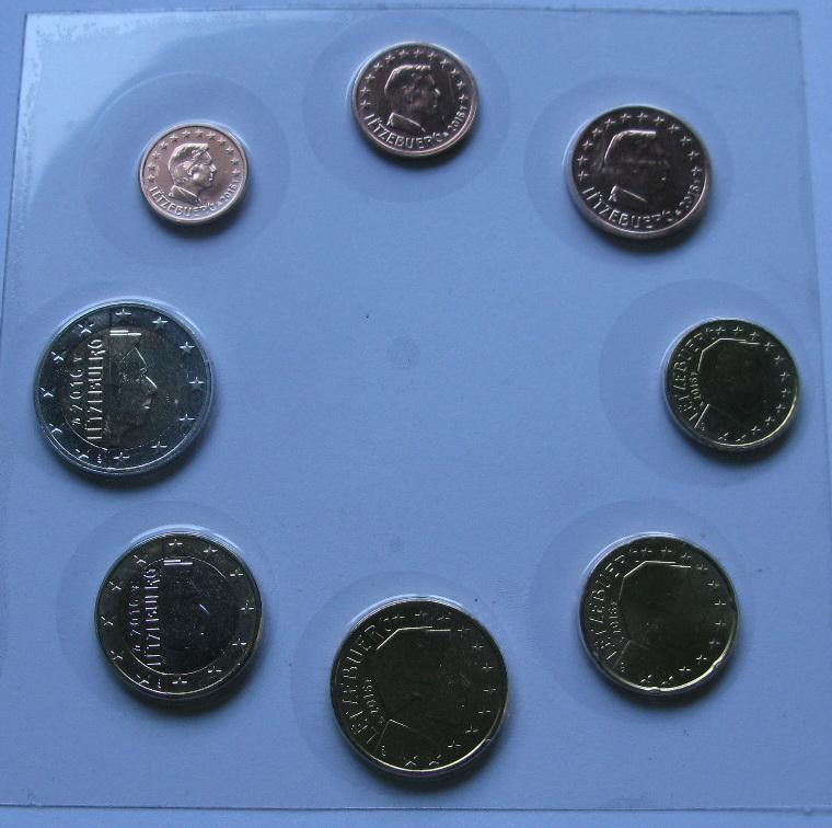 Люксембург набор евро  2016  UNC