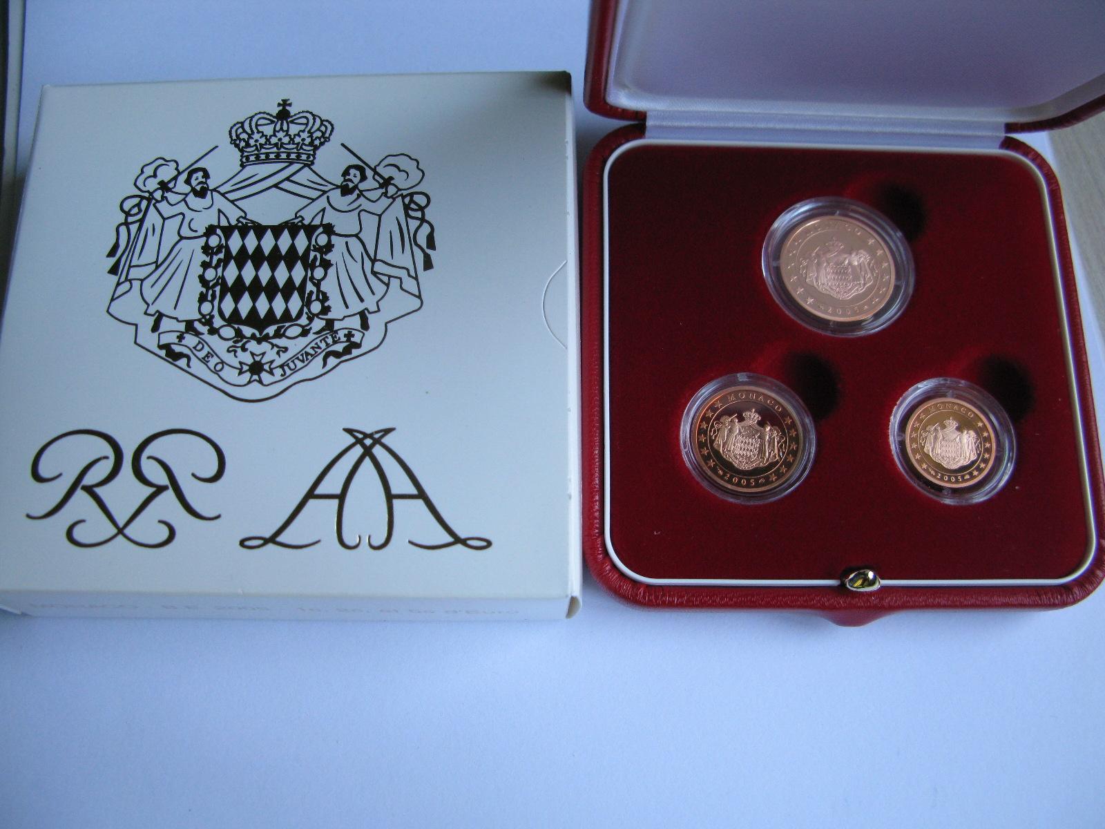 Монако 1,2 и 5 центов 2005 г. (пруф)
