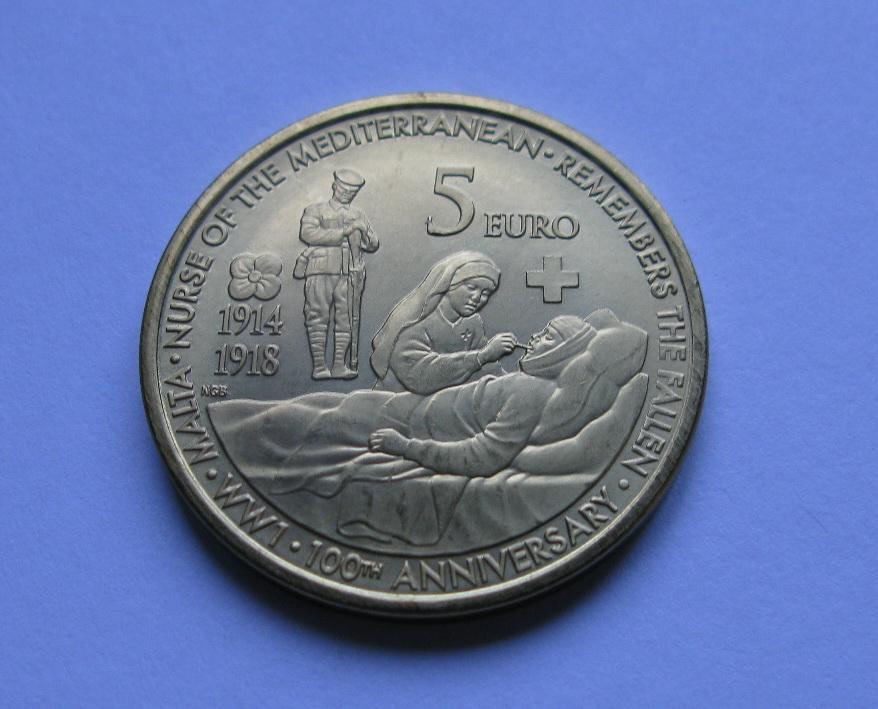 Мальта 5 евро 2014 г.100 лет со дня начала Первой Мировой Войны