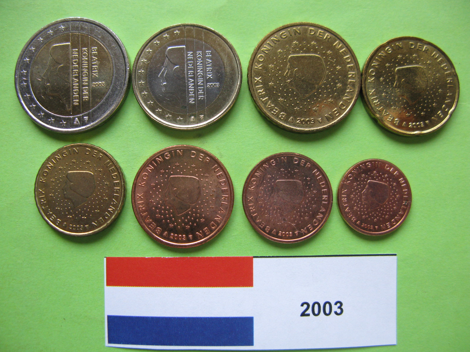 Нидерланды набор евро 2003 г. UNC