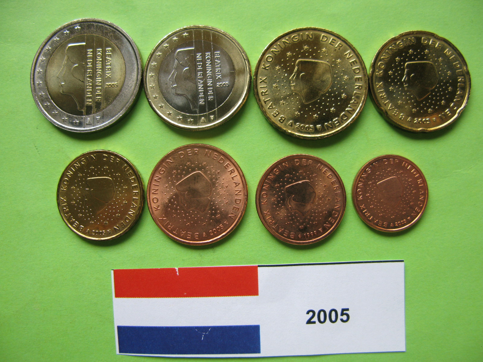 Нидерланды набор евро  2005 г. UNC