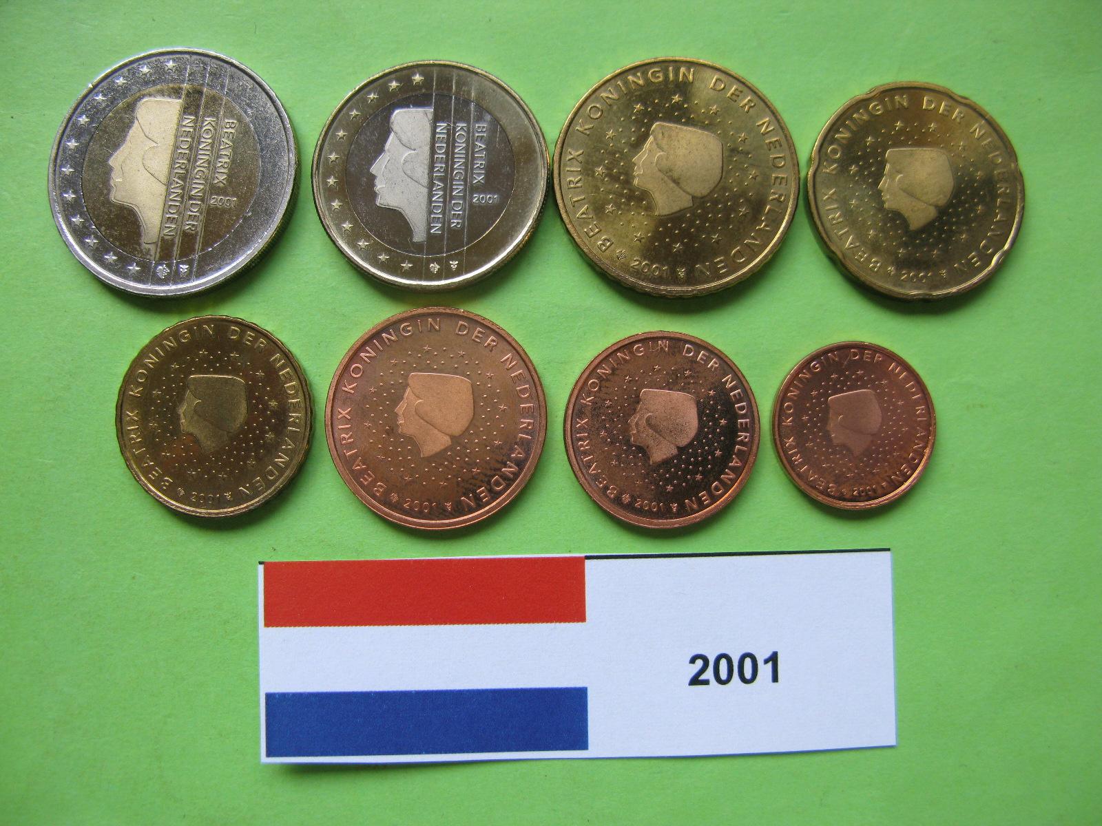 Нидерланды набор евро  2001 г. UNC