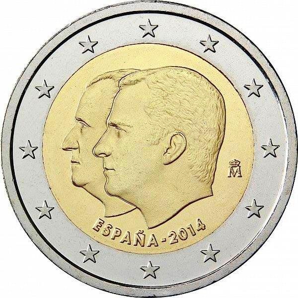 Испания 2 евро 2014 г.  Король Филип VI