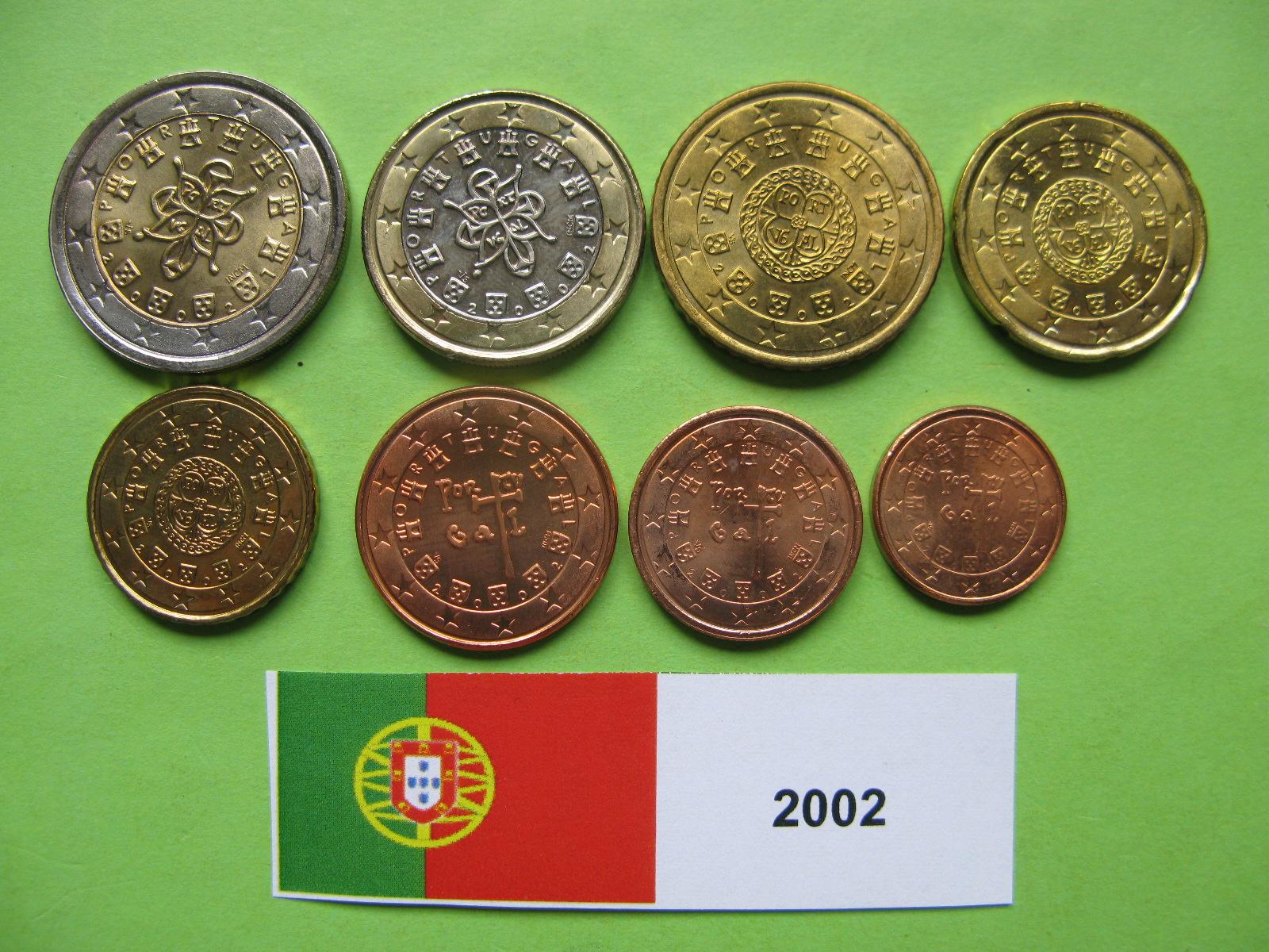 Португалия набор евро  2002 г. UNC