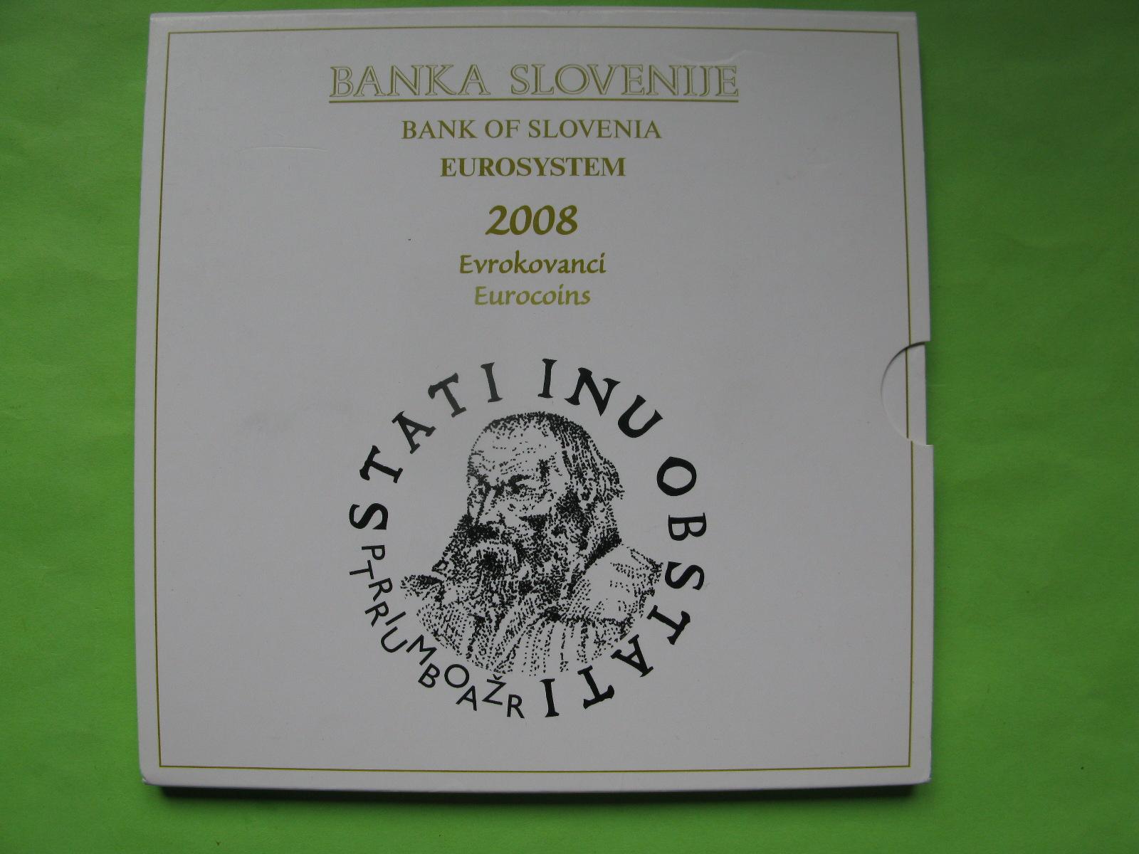 Словения официальный набор евро 2008 г.