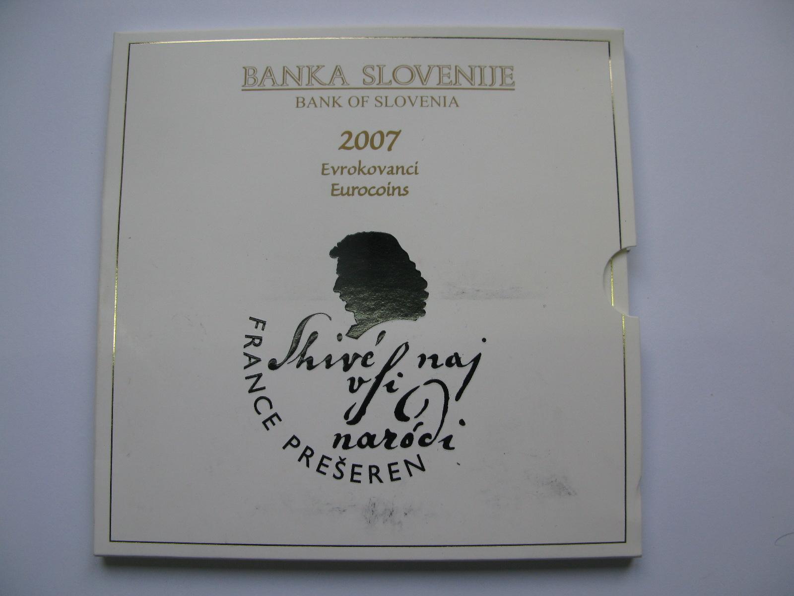 Словения официальный набор евро 2007 г.