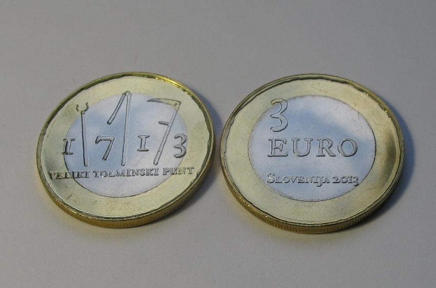 Словения 3 евро 2013 г. 300 лет крестьянскому восстанию в Толмине