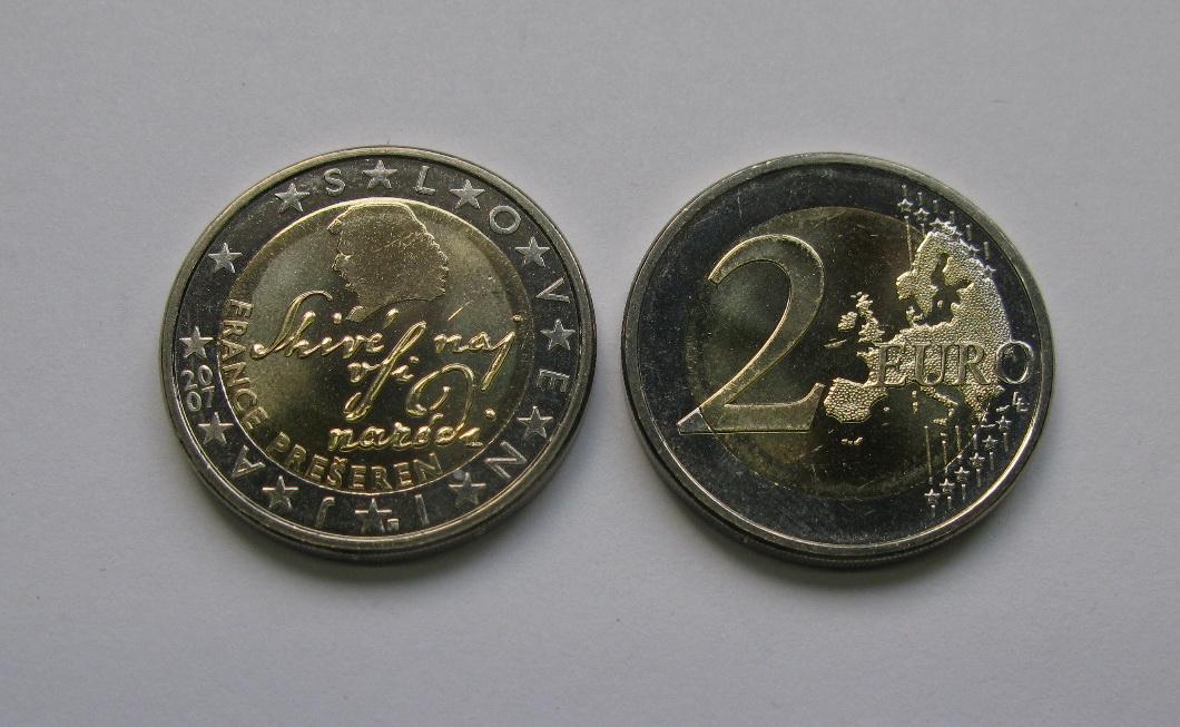 Словения 2 евро 2007 г. UNC