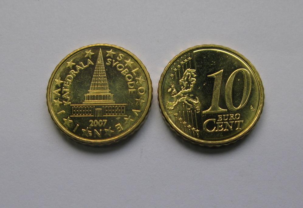 Словения 10 евро центов 2007 г. UNC