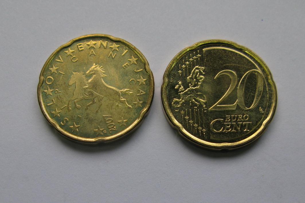 Словения 20 евро центов 2007 г. UNC