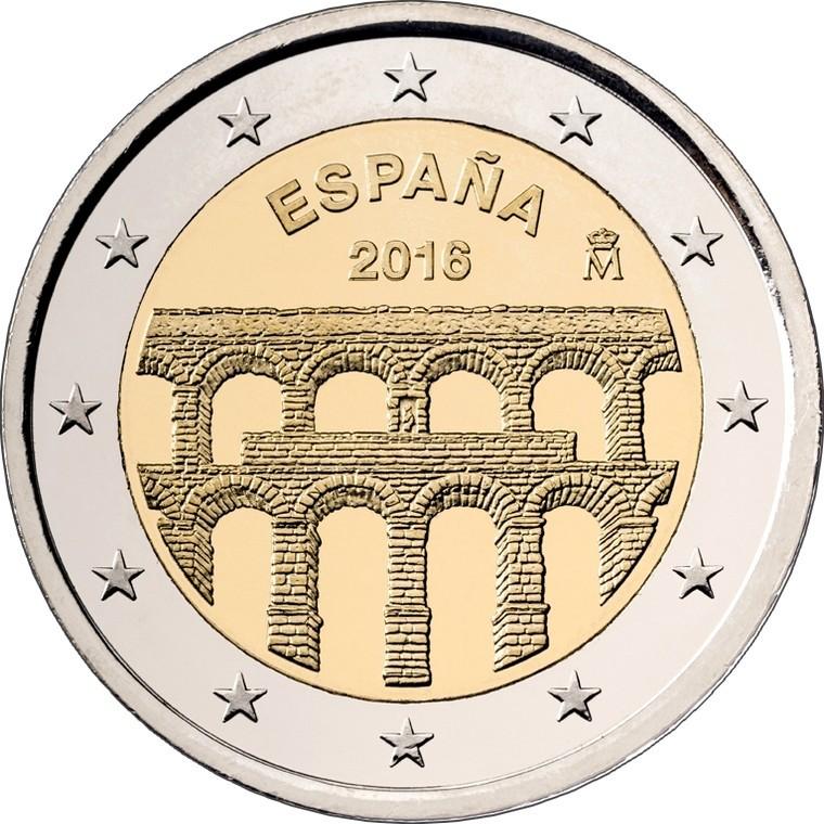 Испания 2 евро 2016 г.  Сеговия