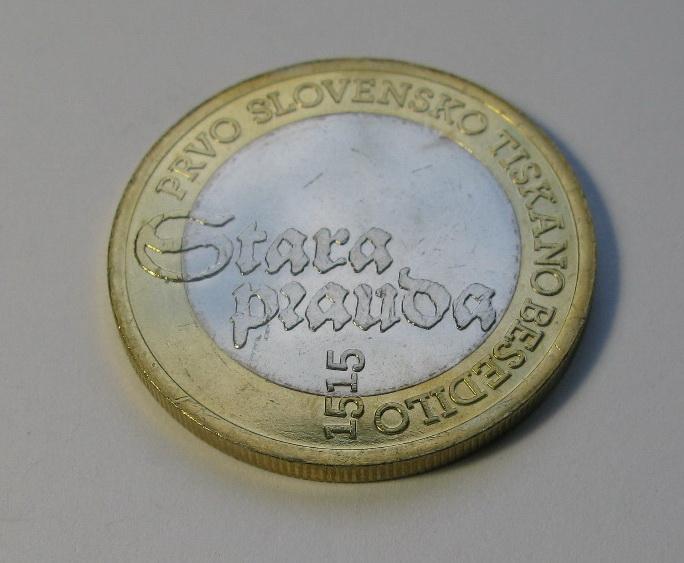 Словения 3 евро 2015 г. 500-летие первого словенского печатного текста