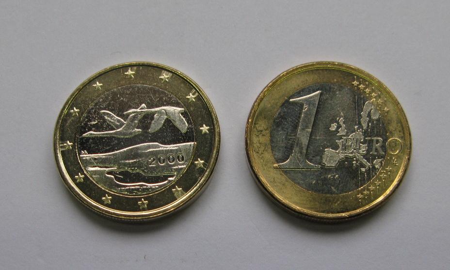 Финляндия  1 евро 2000 г. UNC