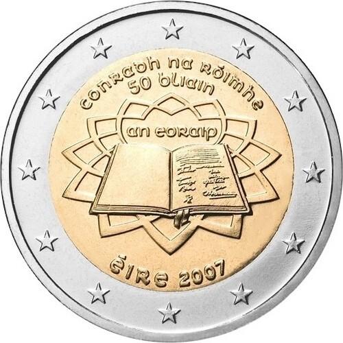 Ирландия 2 евро 2007 г. Римский договор